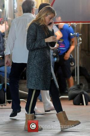 Blake Lively The cast of 'Gossip Girl' filming on location in Manhattan New York City, USA - 15.10.12