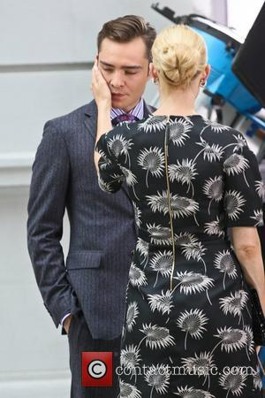 Ed Westwick and Kelly Rutherford