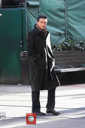 Billy Baldwin  on the set of 'Gossip Girl' filming on location in Manhattan New York City, USA - 20.01.12