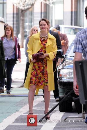 Leighton Meester  Ed Westwick and Leighton Meester on the set of 'Gossip Girl' in Manhattan New York City, USA...