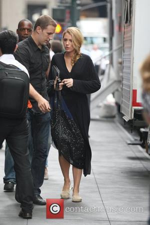 Blake Lively on the set of 'Gossip Girl' in Midtown, Manhattan. New York City, USA - 21.08.12