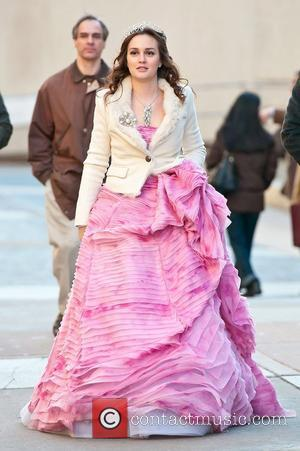 Leighton Meester on the set of 'Gossip Girl' filming on location in Manhattan. New York City, USA - 06.02.12