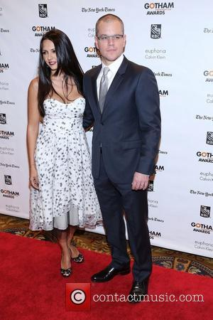 Matt Damon and Lucian Bozan Barroso