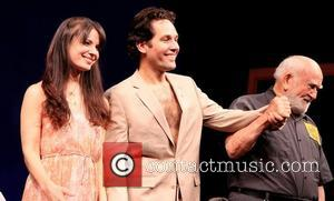 Kate Arrington, Paul Rudd and Edward Asner Broadway opening night of 'Grace' held at the Cort Theatre - Curtain Call...