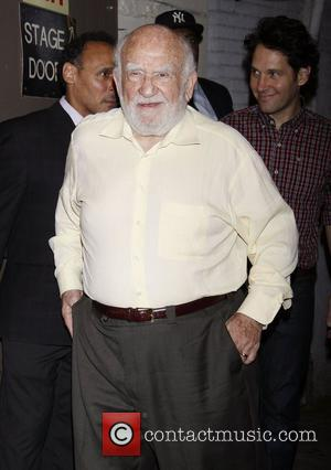 Ed Asner attending the first preview performance of the Broadway play 'Grace' at the Cort Theatre New York City, USA...
