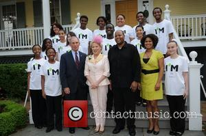New York City Mayor Michael Bloomberg and Bette Midler  2012 Doris C. Freedman Award Ceremony at Gracie Mansion...