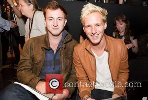 Francis Boulle and Jamie Laing from Made in Chelsea attend the Nottingham Trent University fashion show at Graduate Fashion Week...