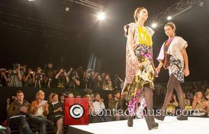 Stars of Made in Chelsea Francis Boulle and Jamie Laing attend the Nottingham Trent University fashion show at Graduate Fashion...