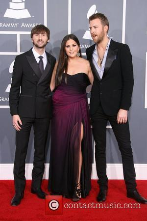 Dave Haywood, Hillary Scott and Charles Kelley of 'Lady Antebellum'  54th Annual GRAMMY Awards (The Grammys) - 2012 Arrivals...
