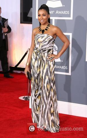 Melanie Fiona 54th Annual GRAMMY Awards (The Grammys) - 2012 Arrivals held at the Staples Center Los Angeles, California -...