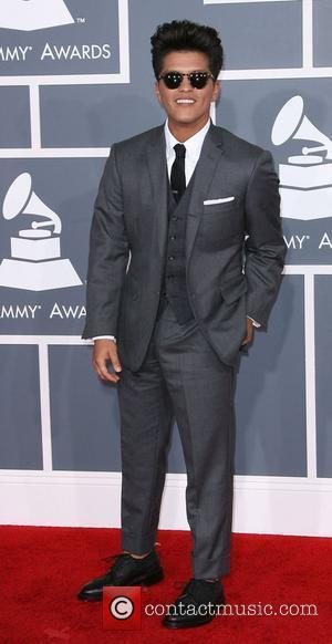 Bruno Mars 54th Annual GRAMMY Awards - 2012 Arrivals held at the Staples Center Los Angeles, California - 12.02.12