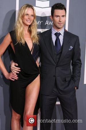 Adam Levine and girlfriend Anne V 54th Annual GRAMMY Awards (The Grammys) - 2012 Arrivals held at the Staples Center...