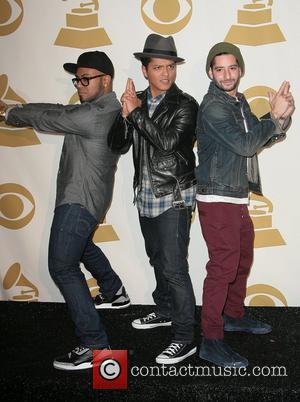 Producer Philip Lawrence, Bruno Mars and producer Ari Levine The GRAMMY Nominations Concert Live held at the Nokia Theatre L.A....