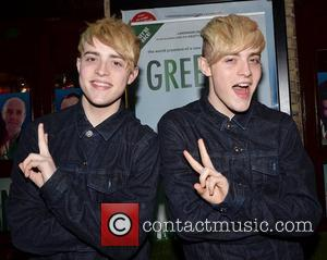 John Grimes and Edward Grimes aka Jedward arrive at the opening night of 'Greener' at The Gaiety Theatre. Dublin, Ireland...