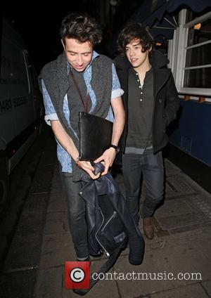Harry Styles leaving the Groucho Club London, England - 15.02.12
