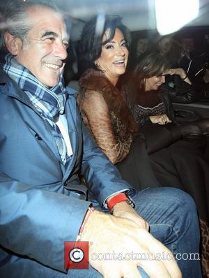 Nancy Dell'Olio,  leaving the Groucho Club in Soho. London, England - 21.09.12