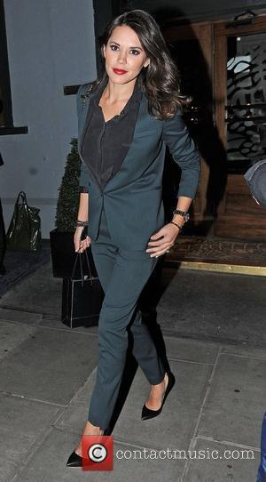 Danielle Lineker leaves Groucho Club in Soho alone. London, England - 28.11.12