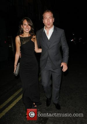 Sir Chris Hoy and Sarra Kemp outside the Groucho Club London, England - 04.09.21