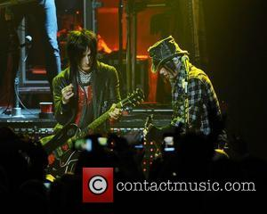 MIAMI BEACH, FL -MARCH 5: Richard Fortus and DJ Ashba of Guns and Roses perform at the Fillmore Miami Beach...
