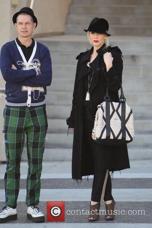 Adrian Young and Gwen Stefani