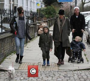 Daisy Lowe; Kinsgton Rossdale; Gwen Stefani; Zuma Rossdale; Gavin Rossdale Gwen Stefani, Gavin Rossdale and their sons Kingston and Zuma...