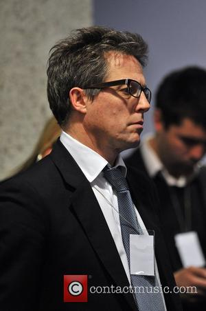 Hugh Grant Hacked Off press conference held at the Queen Elizabeth Conference Centre after the Leveson Inquiry findings. London, England...