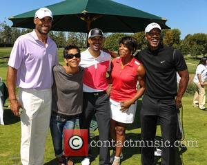 Boris Kodjoe, Halle Berry, guests 4th Annual Halle Berry Celebrity Golf Classic held at the Wilshire Country Club  Los...