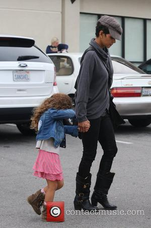 Halle Berry seen with her daughter Nahla Aubry leaving the Pavillions market  Los Angeles, California- 04.12.12