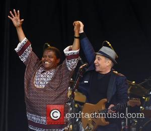 Paul Simon and Joseph Tshabalala,  perform the album 'Graceland' live at Hard Rock Calling in Hyde Park - Day...