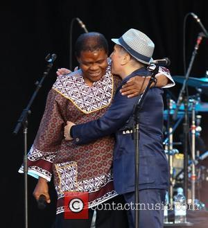 Paul Simon and Joseph Tshabalala,  performs the album 'Graceland' live at Hard Rock Calling in Hyde Park - Day...