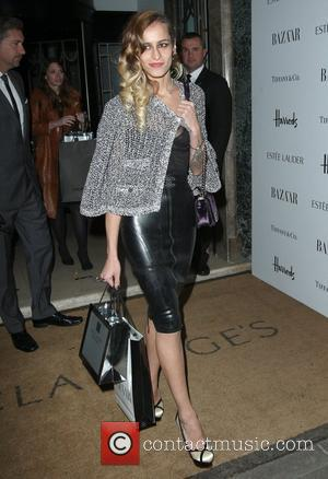 Alice Dellal departing the Harper's Bazaar Woman of the Year Awards held at Claridge's Hotel London, England - 31.10.12