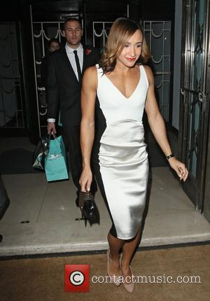 Jessica Ennis departing the Harper's Bazaar Woman of the Year Awards held at Claridge's Hotel London, England - 31.10.12