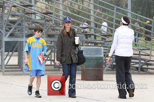 Calista Flockhart and her son Liam Flockhart spend the day at a park in Brentwood Los Angeles, California - 20.10.12