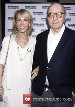 Elaine Joyce and Neil Simon Opening night of the Broadway play 'Harvey' at Studio 54 – Arrivals New York City,...