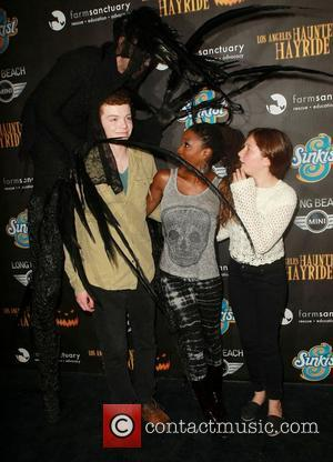 Cameron Monaghan, Shanola Hampton, Emma Kenney	  The 4th Annual Los Angeles Haunted Hayride VIP Premiere Night, held at Griffith...