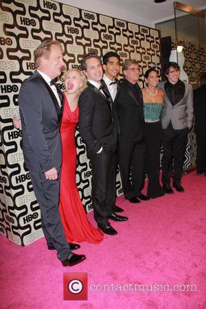 Jeff Daniels, Arison Pill, Dev Petal, Aaron Sorkin, Olivia Munn and Beverly Hilton Hotel