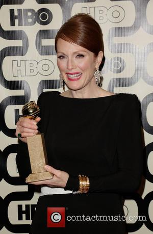 Julianne Moore and Beverly Hilton Hotel