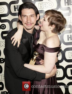 Adam Driver and Lena Dunham 2013 HBO's Golden Globes Party at the Beverly Hilton Hotel - Arrivals  Featuring: Adam...