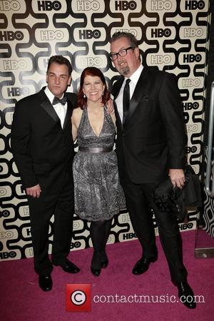 A, Kate Flannery, Chris Haston and Beverly Hilton Hotel