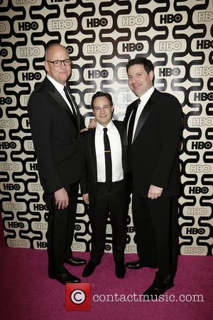 Danny Strong (C); guests 2013 HBO's Golden Globes Party at the Beverly Hilton Hotel - Arrivals  Featuring: Danny Strong...