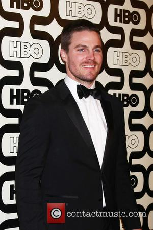 Stephen Amell and Beverly Hilton Hotel