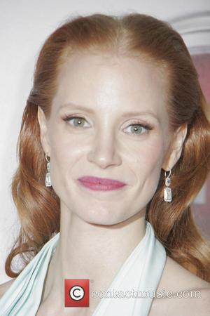 Jessica Chastain and Beverly Hilton Hotel
