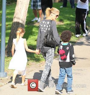Johan Samuel, Heidi Klum and Leni Samuel