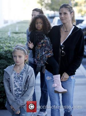 Lou Samuel, Heidi Klum and Leni Samuel