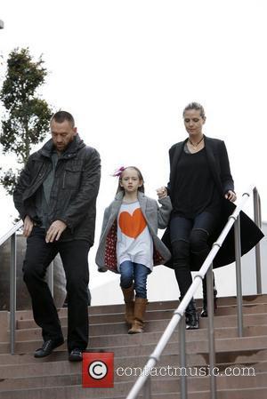 Martin Kirsten, Heidi Klum and Leni Samuel