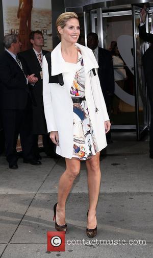 Heidi Klum and Times Square