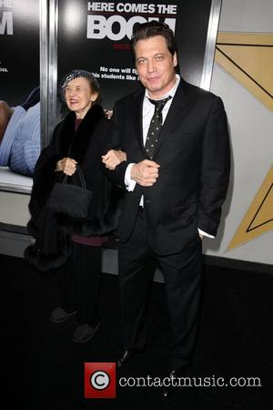 Holt McCallany, and his Mother 'Here Comes the Boom' New York Premiere held at the AMC Theatre in Lincoln Square...