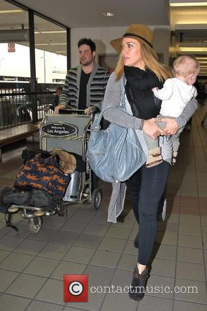 Mike Comrie, Hilary Duff and Luca Cruz Comrie