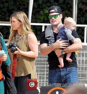 Hilary Duff, Mike Comrie and Luca Cruz Comrie