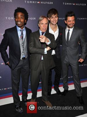 Douglas Booth, Dominic Cooper and Tommy Hilfiger